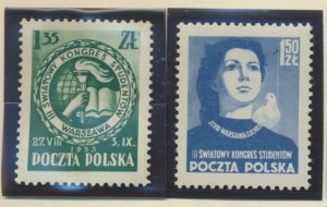 Poland Stamps Scott #584 To 586, Mint Lightly Hinged - Free U.S. Shipping, Fr...