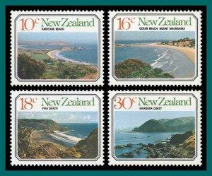 New Zealand 1977 Seascapes, MNH #626-629,SG1145-SG1148
