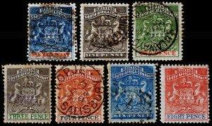Rhodesia Scott 1-6, 8 (1890-91) Used/Mint H G-F, CV $79.75 C