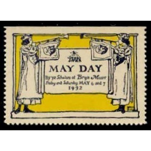 US - Bryn Mawr 1932 May Day Celebration Poster Stamp
