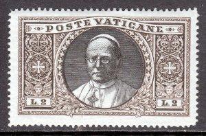 VATICAN CITY — SCOTT 30 — 1933 2L POPE PIUS XI — MH — SCV $45