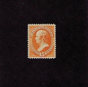 SC# 189 UNUSED ORIG GUM MNH 15 CENT WEBSTER, 1879, 2019 PSAG CERT GRADED XF 90