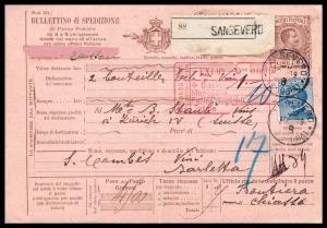 Goldpath: ITALY PARCEL RECEIPT 1909 _CV55_P07