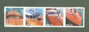 4160-63 Mahogany Speedboats Strip Of 4 Mint/nh FREE SHIPPING