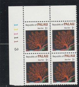 Palau  Scott#  9  MNH Block of 4  (1983 Sea Fan)