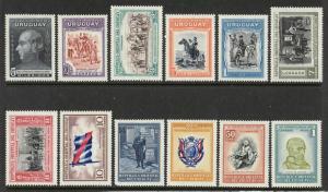 Uruguay #586-597 MLH