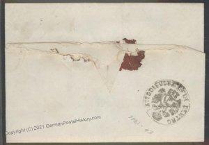 Turkey 1846 Austria Semlin Constantinople  Disinfected Cholera Pest Cover 102393