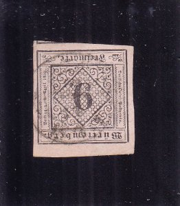 Württemberg: Sc #5, Imperf, Used (S18318)