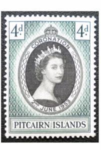 BRITISH PITCAIRN ISLANDS STAMP. YEAR 1953. SCOTT # 19. UNUSED