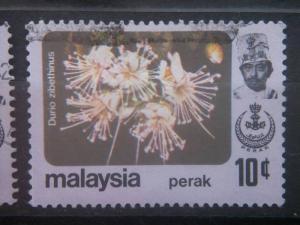PERAK, 1965, used 10c, Flowers Scott 156