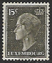 Luxembourg # 250 - Grand Duchesse Charlotte - 15ct - used...(KlGr)