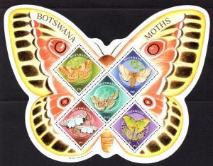 Botswana - 2000 Moths MS MNH** SG MS920