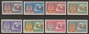 Netherlands Antilles 1946 Sc CB21-8 air post set MNH**
