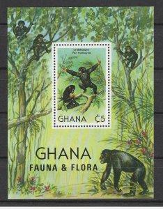 Ghana MNH S/S Chimpanzee