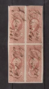 USA #R46a Used Rare Block