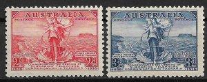 1936 Australia 157-8 Australia/Tasmania Telephone Link MH