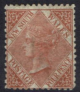 NEW SOUTH WALES 1867 QV 4D WMK 4