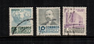 Mexico  929 - 931  used  cat $ 13.00