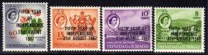 Trinidad & Tobago 1967 QE2 Set 5th Independence MM SG 318 - 321 ( J82 )