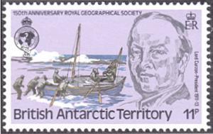 British Antarctic Territory # 78 mnh ~ 11p Lord Curzon, Boat