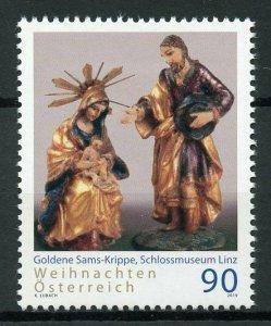 Austria Christmas 2019 MNH Goldener Sams Nativity Seasonal Art 1v Set