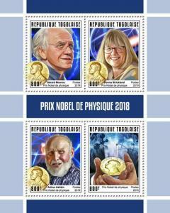 Z08 IMPERF TG190147a TOGO 2019 Nobel Prize in Physics MNH ** Postfrisch