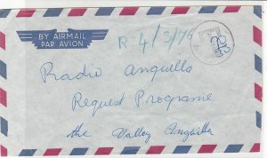 Radio Anguilla Airmail 1976 Anguilla Valley Cancel Stamps cover ref R 18077