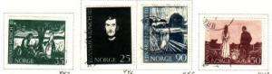 Norway Sc 446-9 1963 Munch Paintings stamps used