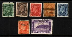 Canada Sc 195-01 1932 G V Medallion stamps used