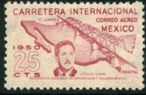 MEXICO C199 25c OPENING of the Panamerican Hwy. Unused. VF.