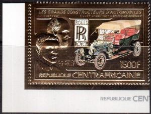 1983 Centralafrica 950gold World famous cars 15,00 €
