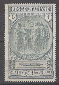 COLLECTION LOT # 4990 ITALY #B19 MH 1923 CV+$32