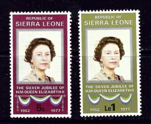 Sierra Leone 440-41 MNH 1977 QEII Silver Jubilee