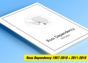 COLOR PRINTED ROSS DEPENDENCY 1957-2018 STAMP ALBUM PAGES (26 illustrated pages)