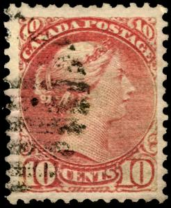 Early Canada #45 10c Brown Red 1897 Queen Victoria VF Used Rare