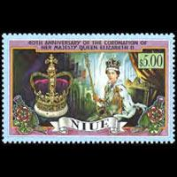 NIUE 1993 - Scott# 661 Coronation Set of 1 NH