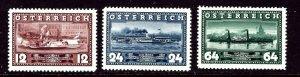 Austria 382-84 MNH 1937 Steamships    (ha1003)