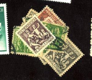 Austria #B66(4),B67(3),B68(4) Used FVF Cat$42