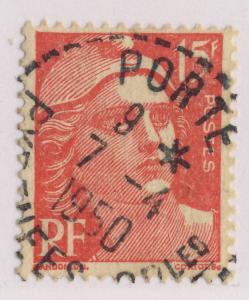 FRANCE 1950 CAD  PORTÉ / PYRENEES-ORles  BUREAU DE DISTRIBUTION sur n°813
