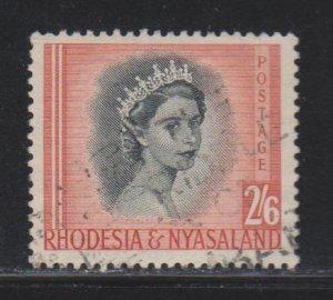 Rhodesia and Nyasaland, 2sh6p Queen Elizabeth II (SC# 152) Used