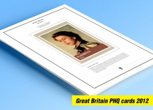 COLOR PRINTED GREAT BRITAIN 2012 PHQ CARDS STAMP ALBUM PAGES (129 illust. pages)