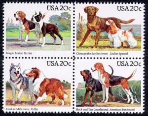 2098-2101 20c Dogs Mint NH VF