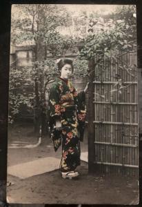 1911 Yokohama Japan Picture Postcard Cover PPC To Crandon WI USA Japanese Girl