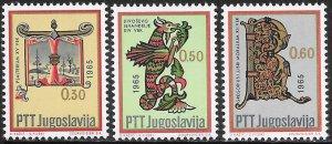 Yugoslavia 803-808 MNH - Art Through the Centuries