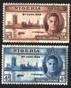 Nigeria. 1946. 62-63. London, river, ships. MLH.