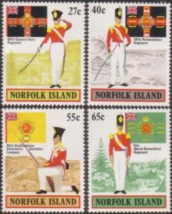 Norfolk Island 1982 SG296-299 Military Uniforms set MNH