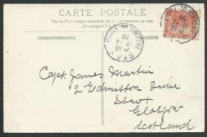 TUNISIA 1906 postcard to Scotland - SFAX cds...............................61887
