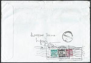 MALAYSIA 1990 cover ex Singapore with postage dues returned to sender......10056