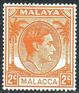 Malacca 1949 2c orange MH