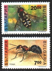 Bulgaria. 1992. 3998-99. Insects, ant. MNH.